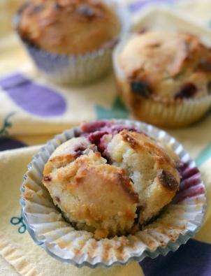 White Chocolate Raspberry Muffins